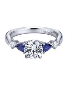 THIS IS STUNNING W-ER6002S4 by Engaged by Gabriel, but don't want colored stones