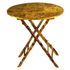 Check out this item at One Kings Lane! Anneliese Folding Table, Tortoise