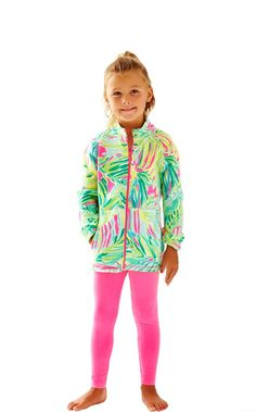 Girls Mini Weekender Jacket - Lilly Pulitzer Tropical Pink Tropical Storm