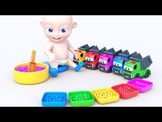 Learn Colors with Super Kid | Trucks Toys and Balls for Kids | Colors Learning for Baby - YouTube