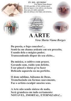 """Vera Maria Viana Borges: A ARTE ( Página 16 do meu livro """"TRILHAS POÉTICAS""""..."""