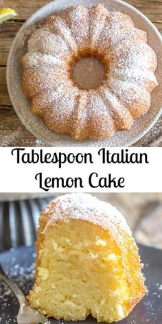 Italian Lemon Cake a delicious moist Cake and all you need is a tablespoon for measurement Fast and Easy and so good The perfect Breakfast Snack or Dessert Cake Recipe cake lemoncake Italiancake Italianlemoncake dessert breakfast snack sweets Brownie Desserts, Dessert Cake Recipes, Lemon Cake Recipes, Moist Cake Recipes, 12 Egg Pound Cake Recipe, Small Lemon Cake Recipe, White Wine Cake Recipe, Healthy Lemon Cake Recipe, Lemon Desert Recipes