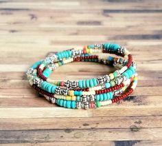 Memory Wire Jewelry, Memory Wire Bracelets, Healing Bracelets, Bead Jewelry, Friendship Bracelets, Jewelry Making, Wire Wrapped Bracelet, Beaded Wrap Bracelets, Stretch Bracelets