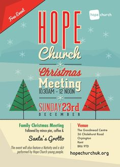Hope Church Christmas Flyer by Kodaflux , via Behance