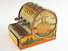 Rare 1920's Child's Cash Tin register