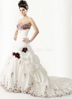 Romantic Ivory Satin Strapless Sweep Womens Luxury Wedding Dress