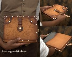 Oooh, this steampunk iPad case for Santiago is do-able and matches the suitcase in a lab.