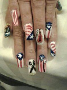 My Designe.  My Puertorrican Nails