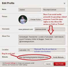 Worldwide Genealogy ~ A Genealogical Collaboration: A genealogist's guide to using Pinterest