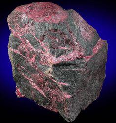 cinnabar | Veins of Cinnabar from Almaden Mines, Ciudad Real, Spain
