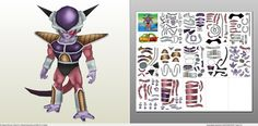 Papercraft .pdo file template for Dragonball Z - Freezer HD.