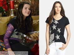 Switched at Birth: Season 3 Episode 22 Bay's Black Star Print Tee
