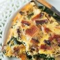 Crustless Bacon, Spinach, and Mushroom Quiche - Table for Two