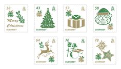 Christmas is a wonderful time of the year, when families gather to share special times, cards and gifts are exchanged and many happy memories are made. The beautiful foiled stamps created for our Christmas 2016 issue feature selected symbols that represent some of the most popular Christmas traditions in the UK and beyond. These stamps were printed using gold and green foil for that sparkly Chrismas look!