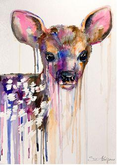 cute drippy bambi deer :3