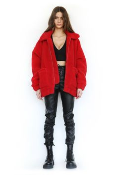 PRE-ORDER PIXIE COAT - RED ( SHIPPING LATE OCTOBER )