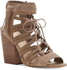 Vince Camuto Ranata Lace-Up Block-Heel Sandals