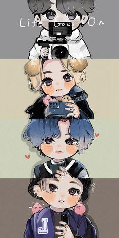 Kookie Bts, Jungkook Fanart, Jungkook Cute, Foto Jungkook, Bts Taehyung, Foto Bts, Bts Boyfriend, V Chibi, Bts Group Picture