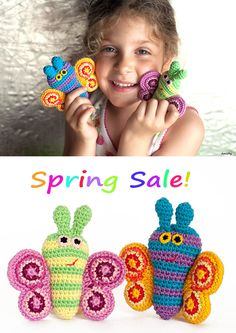 Happy Spring! Just for Spring, from Now until Apr 5th (Easter Sunday), Amichy's Butterfly Pattern is ON SALE for 1$ ONLY. * This is NOT an April fool's trick :D