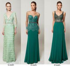 12 Vestidos de festa verde - Madrinhas de casamento