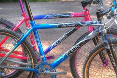 Awesome Storm Klein Attitudes here, Klein made some of the nicest bikes in the 90's These gorgeous examples are testament to that.