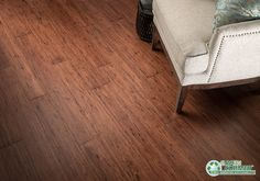 Dark Walnut Flooring Look - Cocoa Fossilized® Eucalyptus   by GreenClaimed®