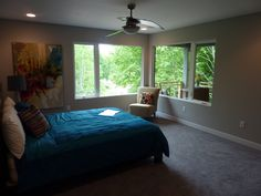 … Master Suite, Master Bedroom, Pottery Barn Style, Ikea Decor, Floating Stairs, Huge Windows, Parade Of Homes, Contemporary, Modern