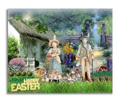 """Easter Creations: Happy Easter from the Country"" by craftygeminicreation ❤ liked on Polyvore featuring art and country"