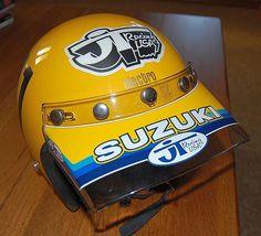 Marty Smith Team Suzuki Retro Helmet, Vintage Helmet, Motocross Helmets, Bike Helmets, Cool Bikes, Mx Bikes, Marty Smith, Suzuki Bikes, Vintage Motocross