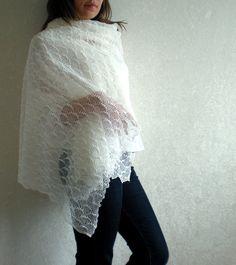 "•Scarf size – 72x200cm 28.3""x81.6""  •100% pure Linen - lightweight  •Color – white  $39"