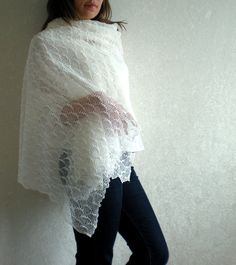 Wedding Linen Scarf / Shawl / Stole  Transparent by BVLifeStyle, $43.99