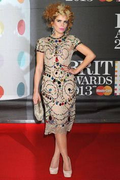 Brit Awards 2013 - Paloma Faith in Dolce & Gabbana...pretty much the only well dress person at the Brits!