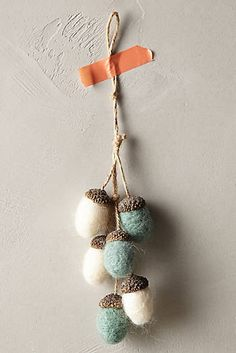 Felted Acorns Ornament  #anthropologie #christmas