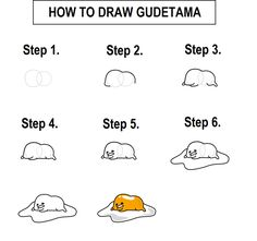 How to draw Gudetama by LaundrySoapman25