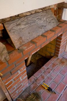 Domestic Fashionista - Rearranging furniture and raising littles. Reface Brick Fireplace, Home Fireplace, Fireplace Design, Parrilla Exterior, Rearranging Furniture, Build Outdoor Kitchen, Fire Pit Designs, Metal Tools, Fireplace Accessories