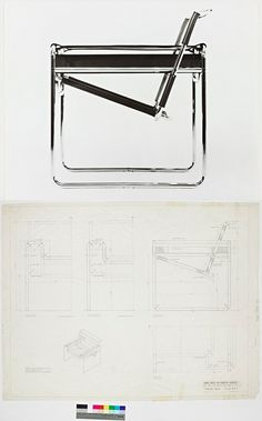 cadeira Wassily - desenhada pelo húngaro Marcel Breuer entre os anos de 1925 e 1927
