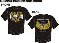 TOP GUN FALLEN ANGELS T-SHIRT - We ask that you please find it in your hearts to help the families of Carlos Carrera and Omar Moreno from Top Gun who now have to deal with hospital and funeral expenses on top of the grief and loss they've already experienced by purchasing this tee and commemorating the lives of all our Fallen Jags turned Guardian Angels.  READ MORE on http://www.cheercoach.net/profiles/blogs/tragic-week-for-top-gun-cheerleaders-after-death-of-omar-carlos