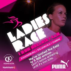 We've limited the field to 5 000 entries. Don't leave entering until it's too late. #TSrunpink #TSrun #running #IRunBecause