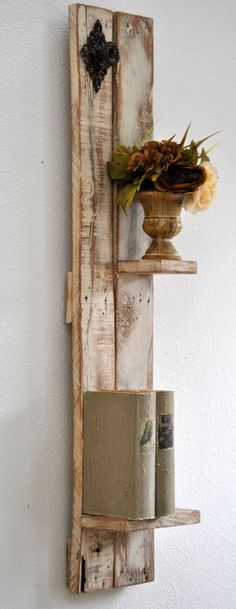 Shelves Distressed Chic Decorative Wall by revampedandrevived