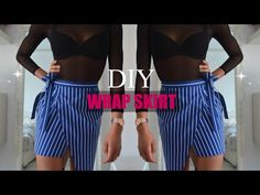 DIY | How To Make A Asymmetrical Wrap Skirt (pattern available) - YouTube