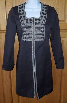 EUC CAbi Turkish Delight #184 Charcoal Gray Jacket Sz 0 ~ Embroidered/Beaded #CAbi #BasicJacket