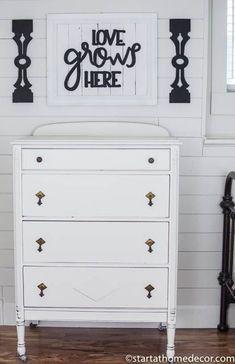 Vintage Dresser Makeover   Start at Home