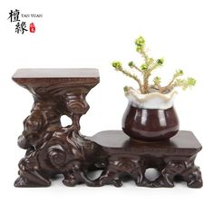 Redwood art ware carved collection base teapot cup support bonsai decoration vase stand fish tank pedestal home decoration-in Figurines & Miniatures from Home & Garden on Aliexpress.com | Alibaba Group