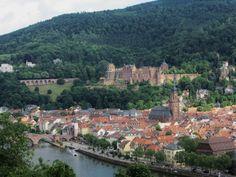 View from Philosophenweg. Heidelberg, Germany;  germanyja.com
