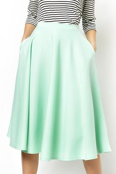 love this full midi skirt in mint http://rstyle.me/n/fk242nyg6