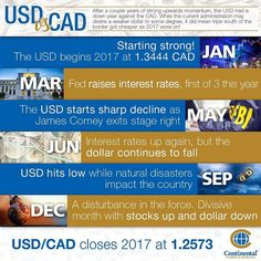 What a year it was south of the border! Relive the story of the USD in 2017 and see how it compared to our dollar.
