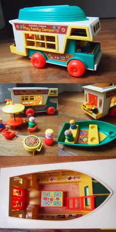 I love fisher price little people. Vintage fisher price family camper - need for nursery Jouets Fisher Price, Fisher Price Toys, My Childhood Memories, Childhood Toys, Tapetes Art Deco, Brinquedos Fisher Price, Fisher Price Vintage, This Is Your Life, Oldies But Goodies
