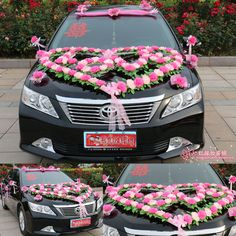 wedding car decorations car flowers Propose necessary bridal car decoration A+++ Halloween Car Decorations, Wedding Stage Decorations, Flower Decorations, Luxury Car Rental, Best Luxury Cars, Wedding Card Wordings, Just Married Car, Bridal Car, Car Interior Decor