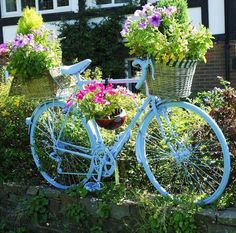 Bicycle and flowers♥<>♥