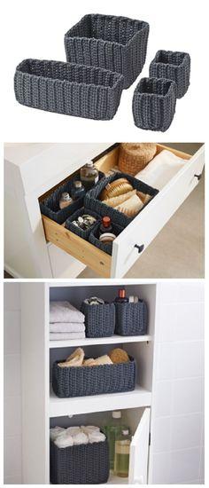 IKEA Fan Favorite: NORDRANA basket. These handmade fan favorites help you organize your bathroom in style.